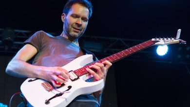 Photo of Paul Gilbert Introduced Ibanez PGM miKro