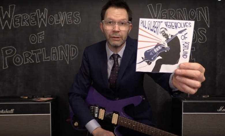 Photo of Paul Gilbert Confirming Recording Process for New Album